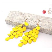 Fashion Yellow Enamel Aciniform Earrings(SWTER244)