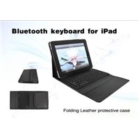 Folding Leather Case Bluetooth Keyboard For iPad 2
