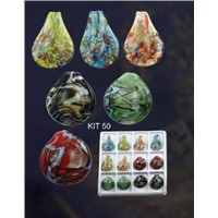 Lampwork Glass Pendant Necklace Sets - Murano Glass Necklace Pendant