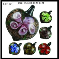 Lampwork glass Pendant Necklace Earring Jewelry Set,Lampwork glass necklace sets