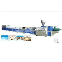 PVC, PE and PP Wood Plastic Profile Bar Production Line