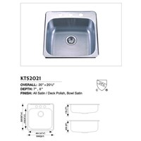 Stainless Steel Topmount Single Sink KTS2021