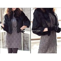 Women's Rabbit Fur Coats Fox Jacket Japanese & Korean style (Z20)