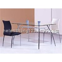 dining room furniture tempered glass dining table
