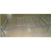 Popular Iron Folding Bed with Wheels