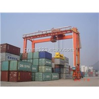 rubber-tyred container portal crane