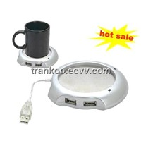 USB Cup Warmer with 4X USB2.0 HUB, USB Hub Warmer
