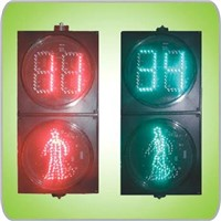 "200mm(8"") LED Pedestrian With Countdown Timer Traffic Light (RX200-3-25-1D)"