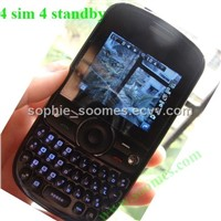4 SIM Qwerty Keypad Mobile Phone
