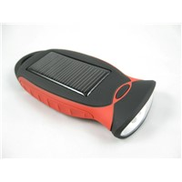 Guaranteed 100% Solar Charger for Iphone/Mobile Phone/Mp3/Mp4 and with 4 LED Flashlight (SC04)