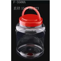 3500ml Clear PET Food Container with Handle Lid