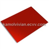 Red Aluminum Composite Panel with Nontoxic Polyethylene Plastic Core, Used in Subway and Tunnel