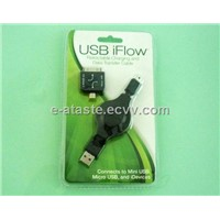 Retractable Charging and Data-Transfer Cable for iPhone 4/3gs/ Blackberry/ Htc (Eat-044)
