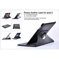 Rotary and Ultra Thin Stand Leather Case for iPad 2