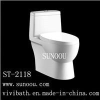 SUNOOU one piece dual flush anti clogging water saving skip bucket toilet ST-2118