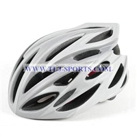Silver Road Bike Helmet with Best Ventilation