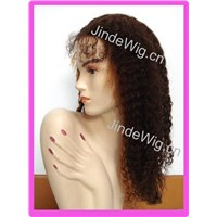 long curly Indian remy human hair full lace wigs wholesales