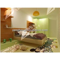 colorful soft cartoon home decorative pvc flooring
