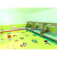 colorful soft skidproof kindergarten pvc flooring