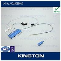 1x8 900um bare fiber plc splitter/coupler,with split and SC sm connector