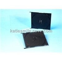 5.2mm cd jewel case with black tray( factory in Shantou)