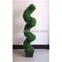 Artificial Plastic Boxwood Topiary Spiral Tree Plant