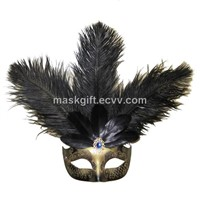 Black & Gold Mardi Gras Venetian Mask