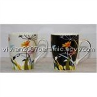Bone China Mug with Flower Design