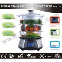 Digital stainless steel steam cooker XJ-7K118