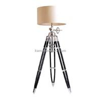 Fabric Lampshade & Aluminium Floor Lamp  (F715L)