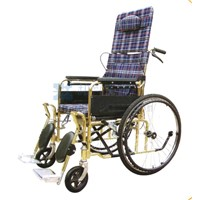 Gold-Plated High Back Full-Lying Wheelchair