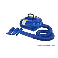 Portable double motor pet water blower