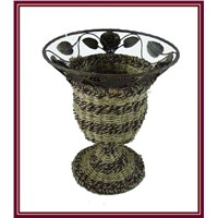 Rattan Flower Vase for Home