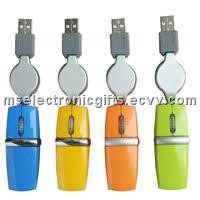 Retractable Cable Optical Mouse