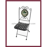 Wrought iron folding chair for dinning furniture sets