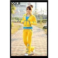 Yoga flower yellow printed women sportswear