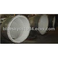 alumina ceramic lining tile for pipe