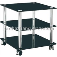 mobile tempered glass coffee table xyct-090