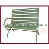 Wire & Wood Garden Bench - Double Outdoor Chairs