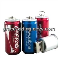 Cola Tin Shap USB Flash Drive Water Transfer Printing LOGO