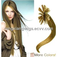 100% human remy hair u tipped hair extensions
