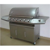 6 burners stainless steel gas bbq grill with CE approval