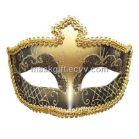 Black & Gold Venetian Eye Mask