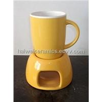 Ceramic Mug with Warmer