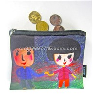 DIY hand painted coin bag
