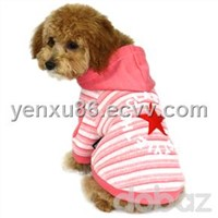 Embroid Stripe Dog Hoodie Clothes Pet Shirt