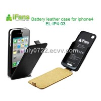 For iphone 4 battery charger leather case