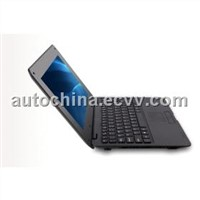Free shipping 10.2 inch Wi-Fi Mini Laptop Netbook with Camera Fashion Design Black color