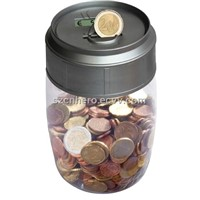 Hi-Tech Transparent Digital PVC Coin Saving Jar (HR-316)