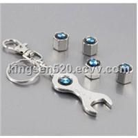 Metal BMW Tire Valve Cap Wrench Key Chain